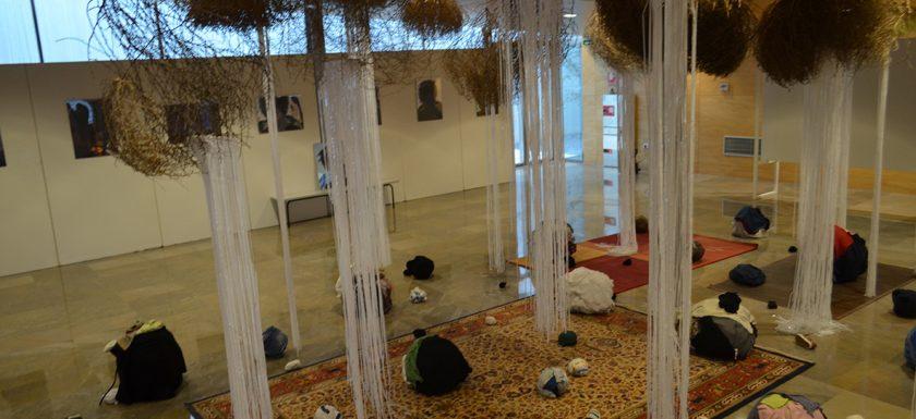 """Exposición """"Nubes del desierto"""" Gertrudis Rivalta Oliva / Albacete 2019. Foto: Miguel A. Blay Pastor."""